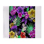 Colorful Flower Design Print Throw Blanket