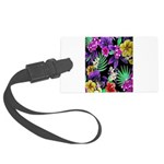 Colorful Flower Design Print Large Luggage Tag