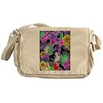 Colorful Flower Design Print Messenger Bag