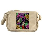 Colorful Flower Design Print Messenger Bag