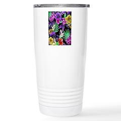 Colorful Flower Design Print Travel Mug