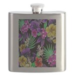 Colorful Flower Design Print Flask