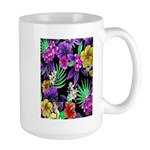 Colorful Flower Design Print Mugs