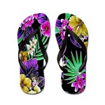 Colorful Flower Design Print Flip Flops