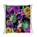 Colorful Flower Design Print Everyday Pillow