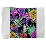 Colorful Flower Design Print Pillow Sham