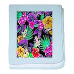Colorful Flower Design Print baby blanket