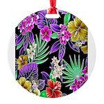Colorful Flower Design Print Round Ornament