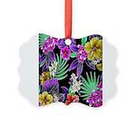 Colorful Flower Design Print Picture Ornament