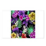 Colorful Flower Design Print Postcards (Package of