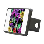 Colorful Flower Design Print Rectangular Hitch Cov