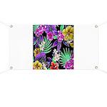 Colorful Flower Design Print Banner