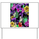 Colorful Flower Design Print Yard Sign
