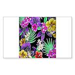 Colorful Flower Design Print Sticker