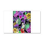 Colorful Flower Design Print Car Magnet 20 x 12