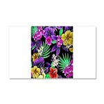 Colorful Flower Design Print Car Magnet 20 x 12
