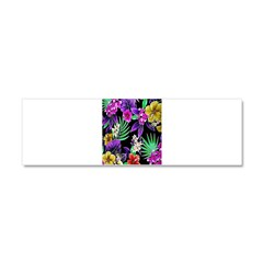 Colorful Flower Design Print Car Magnet 10 x 3