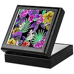 Colorful Flower Design Print Keepsake Box