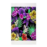 Colorful Flower Design Print Area Rug