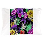 Colorful Flower Design Print Pillow Case