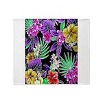 Colorful Flower Design Print Throw Blanket