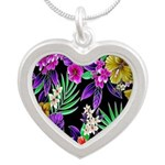 Colorful Flower Design Print Necklaces