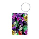 Colorful Flower Design Print Keychains