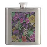 Colorful Flower Design Print Flask