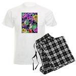 Colorful Flower Design Print Pajamas