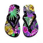 Colorful Flower Design Print Flip Flops