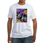 Colorful Flower Design Print T-Shirt