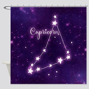 Capricorn Zodiac Constellation Shower Curtain