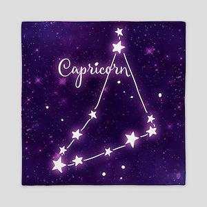 Capricorn Zodiac Constellation Queen Duvet
