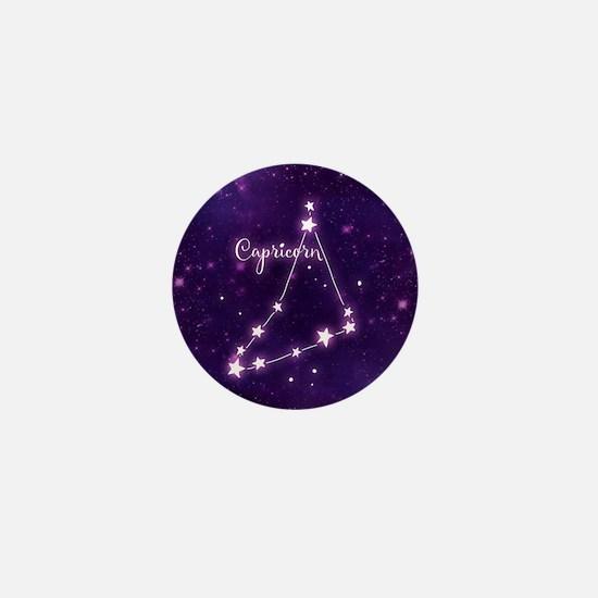 Capricorn Zodiac Constellation Mini Button