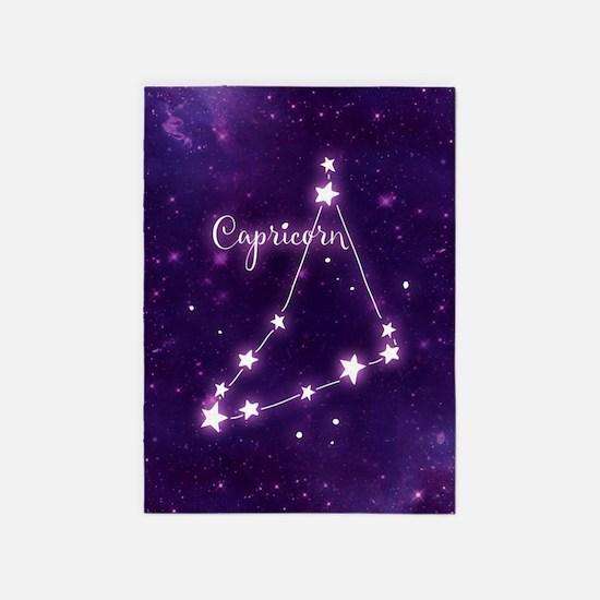 Capricorn Zodiac Constellation 5'x7'Area Rug