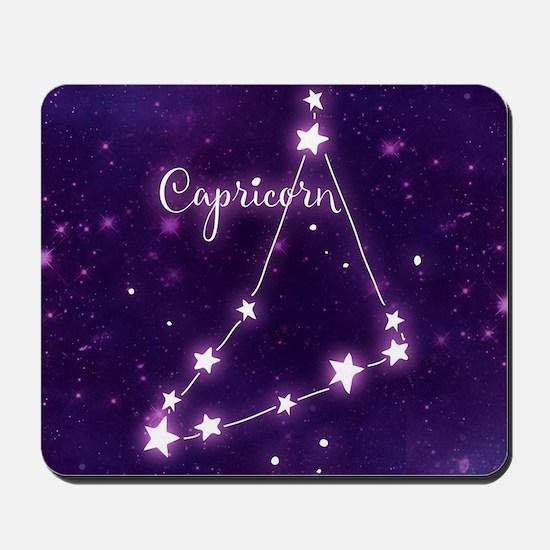 Capricorn Zodiac Constellation Mousepad