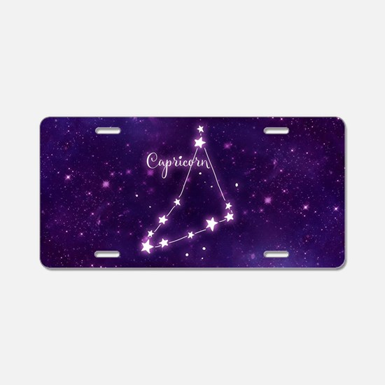 Capricorn Zodiac Constellat Aluminum License Plate