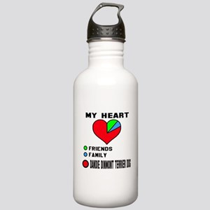 My Heart, Friends, Fam Stainless Water Bottle 1.0L
