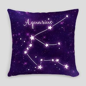 Aquarius Zodiac Constellation Everyday Pillow