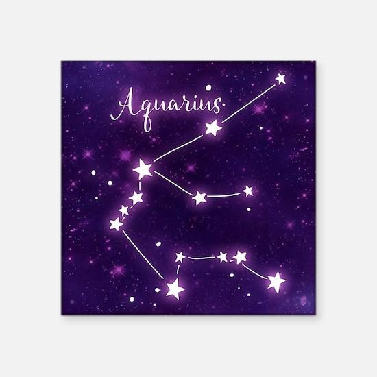 """Aquarius Zodiac Constellati Square Sticker 3"""" x 3"""""""