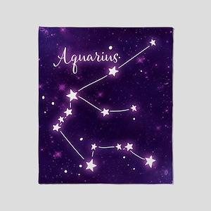 Aquarius Zodiac Constellation Throw Blanket