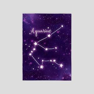 Aquarius Zodiac Constellation 5'x7'Area Rug