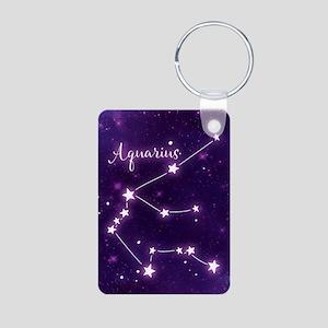 Aquarius Zodiac Constellat Aluminum Photo Keychain