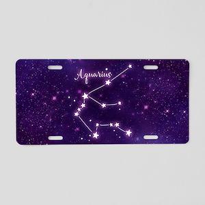 Aquarius Zodiac Constellati Aluminum License Plate