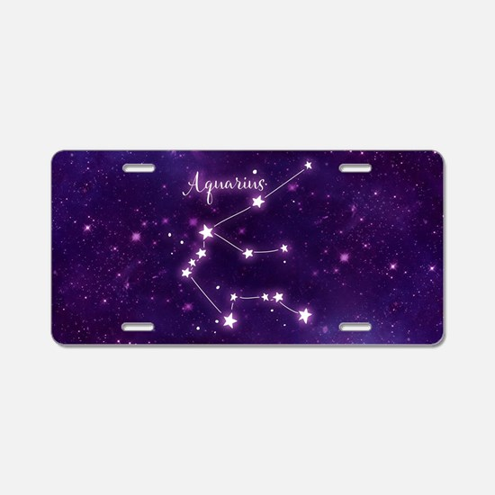 Aquarius Zodiac Constellati Aluminum License Plate