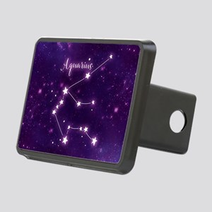 Aquarius Zodiac Constellat Rectangular Hitch Cover