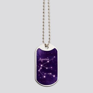 Aquarius Zodiac Constellation Dog Tags