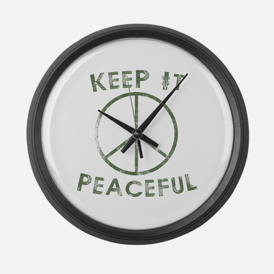 Cool Obama funny Large Wall Clock