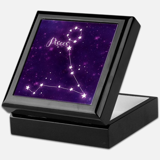 Pisces Zodiac Constellation Keepsake Box