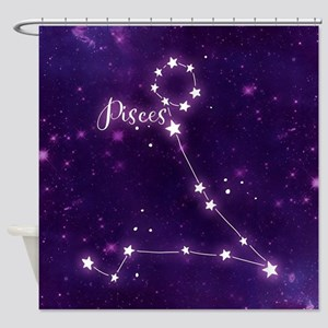 Pisces Zodiac Constellation Shower Curtain